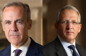 Photo of Mark Carney and Sir John Cunliffe.