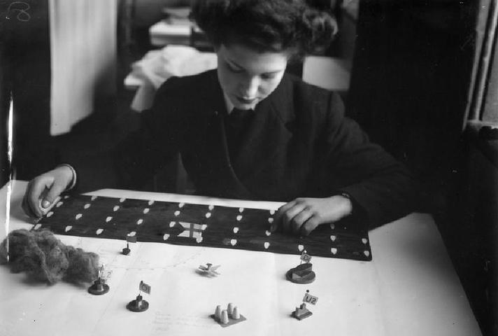 Women model tactics which help win the Battle of the Atlantic