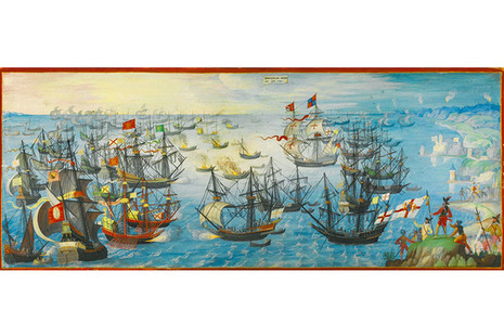 Spanish Armada painting