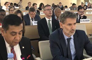 Lord Ahmad addresses the 39th Session of the UN Human Rights Council