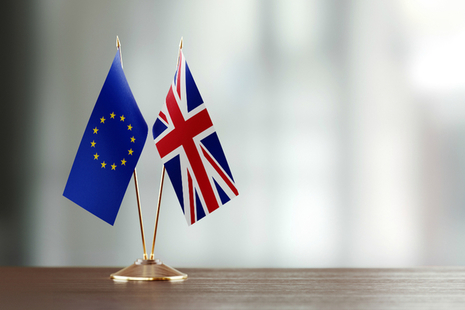 UK and EU flag