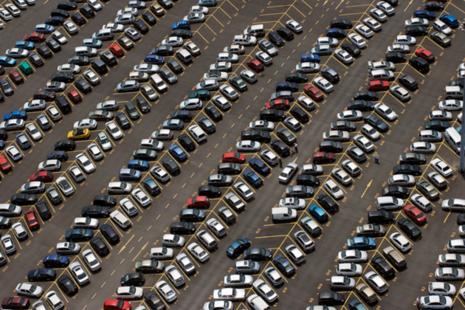 A photograph of a car park.