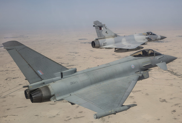 Qatari jet export deal swings into action. Crown copyright.