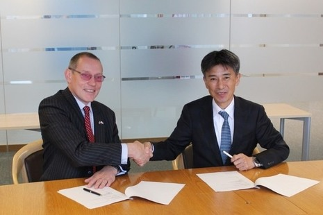 Dr Adrian Simper, NDA's Strategy and Technology Director, and Hajime Ito, Executive Director Japan Atomic Energy Agency, signed the agreement