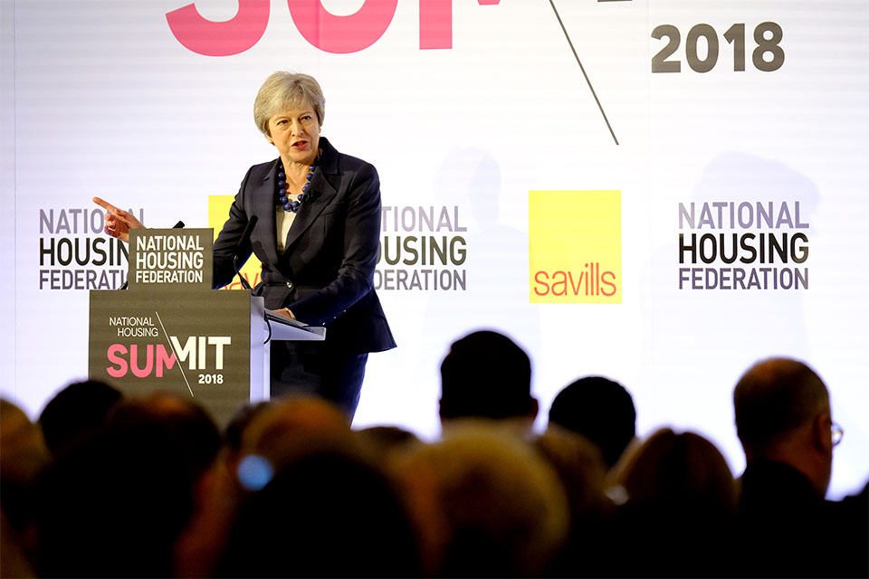 PM speaking at the National Housing Federation summit