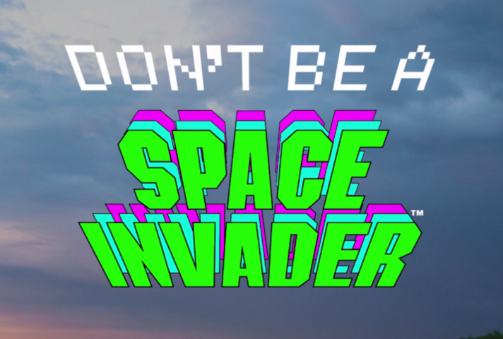 Space invader campaign logo