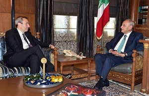 British Ambassador Chris Rampling meets Speaker Nabih Berri