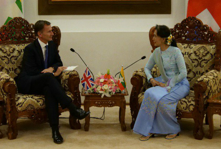 Jeremy Hunt's statement to media on his September 2018 visit to Burma