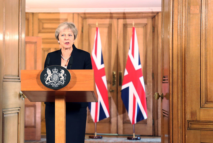 Prime Minister Theresa May gives a statement on Brexit negotiations