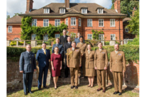 Some of those who received awards pose for a group photo with General Sir Chris Deverell © MOD Crown Copyright 2018
