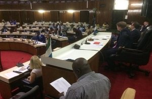 UK MPs delievring a training session in the Parliament of Sierra Leone during the CPA-UK visit