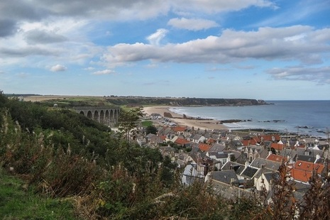 Cullen and its viaduct, Moray