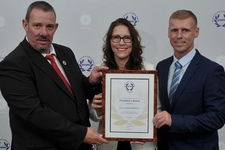 LLWR staff collecting RoSPA Award 2018