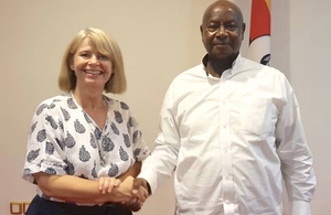 UK Minister for Africa Harriett Baldwin meeting Yoweri Museveni, President of Uganda