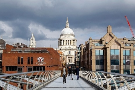 St Paul's cathedral seen from the Millennium Bridge