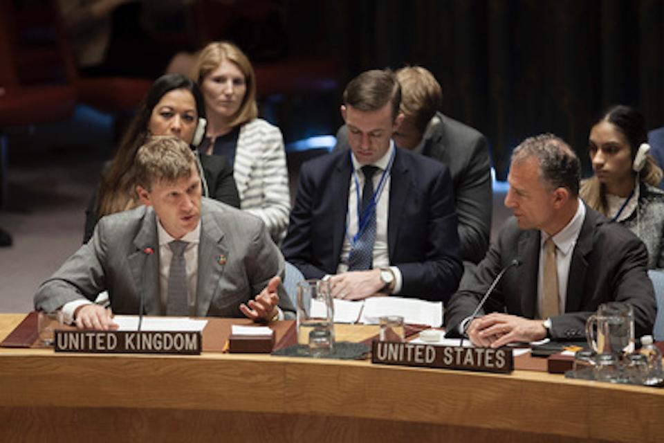 Ambassador Jonathan Allen at the UN Security Council (UN Photo)