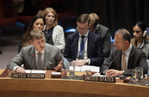 Ambassador Jonathan Allen at the UN Security Council (UN Photo)