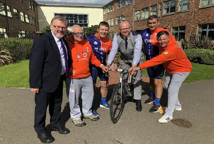 David Mundell and the Lockerbie cyclists