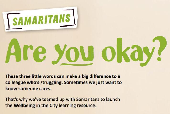 Samaritans mental health support graphic