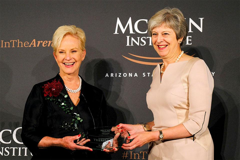 PM receives a modern slavery award
