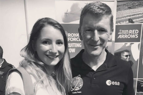 Robyn Haigh with British astronaut Tim Peake