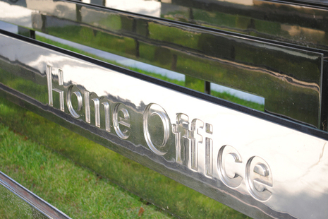 Picture of the Home Office sign.