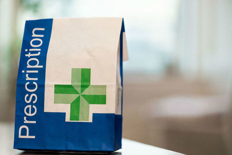 Paper bag for a pharmacy prescription