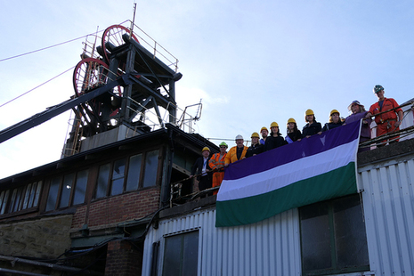 Suffrage Flag at the National Coal Mining Museum