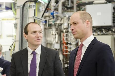 Duke of Cambridge meet UKAEA CEO at MAST Upgrade unveiling