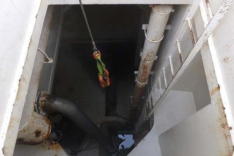 The aft refrigerated salt water tank on fv Sunbeam
