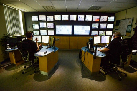 Staff in control room