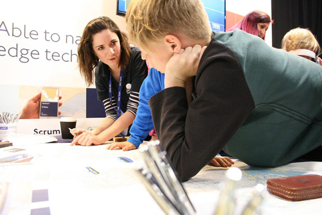 UKHO STEM Ambassadors at the Big Bang Fair, Weston Super Mare