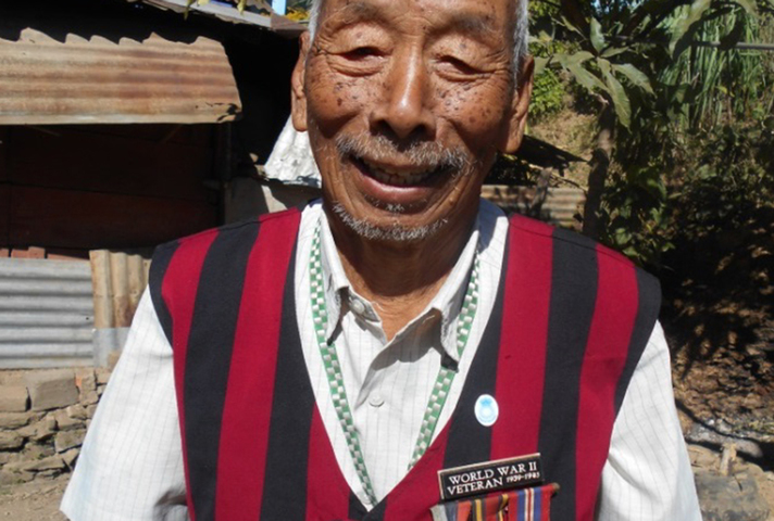 A Commonwealth veteran from Nagaland, India, who fought for Britain in Burma during WWII. Picture: RCEL