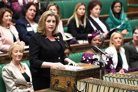 Penny Mordaunt speaking at the Women MPs of the World event in the House of Commons. Picture: UK Parliament/Jessica Taylor