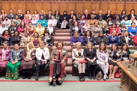 Women MPs of the world sitting in House of Commons