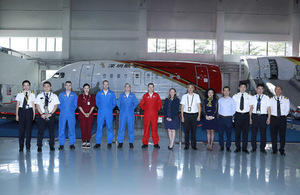 The Red Arrows visit Southern China to strengthen UK-China links
