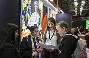 Apprenticeship ambassador talking to others.