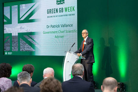 Dr Patrick Vallance speaking at Green GB Week event
