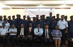 Burundi police force training