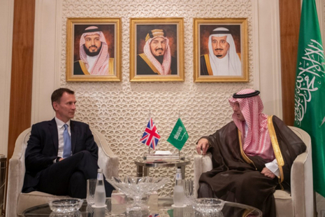 Landscape of Jeremy Hunt with Foreign Minister