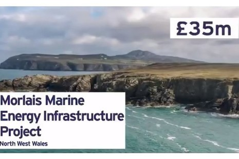 The £35 million Morlais Marine Energy Infrastructure Project in North West Wales is one of the projects announced today.