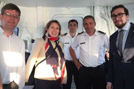 Ambassador Judith Gough on board the HMS Duncan