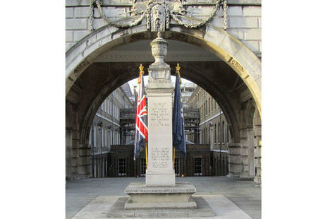 Civil Service Rifles memorial at Somerset House