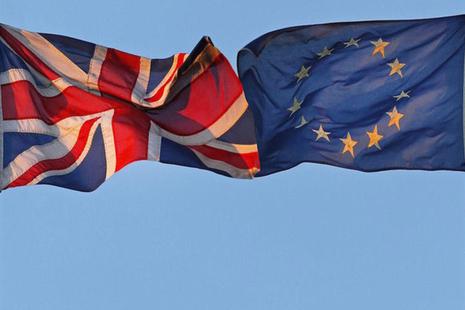 UK EU falg
