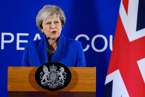 PM Theresa May speaks at EU Council