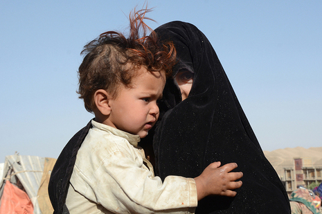 A woman and child displaced by drought in Afghanistan. Picture: OCHA/Philippe Kropf