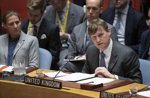 Ambassador Jonathan Allen at the Security Council briefing on Ukraine (UN Photo)