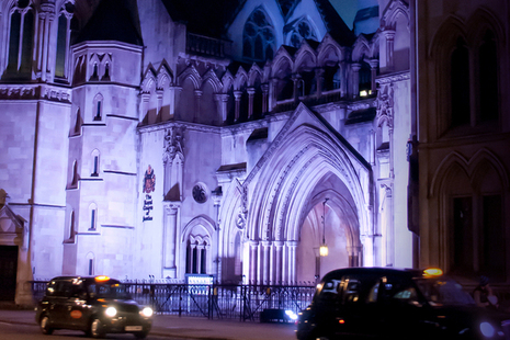 Image of Royal Courts of Justice at night