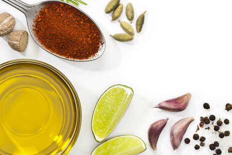 Oil and spices