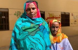 Asmahan Obaid Hamad and her daughter Asia Mawala Altaib in Al Gazira state, Sudan. Asia has not been subjected to FGM and is campaigning to end the practice. Picture: Steph Moor/DFID